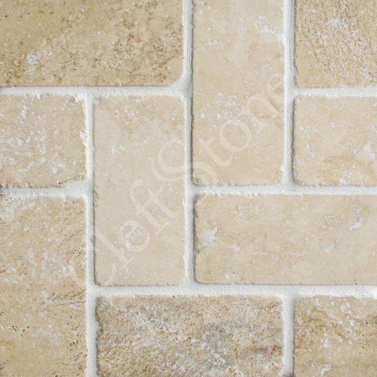 Shapes patterns the cleftstone works for Best grout color for travertine tile