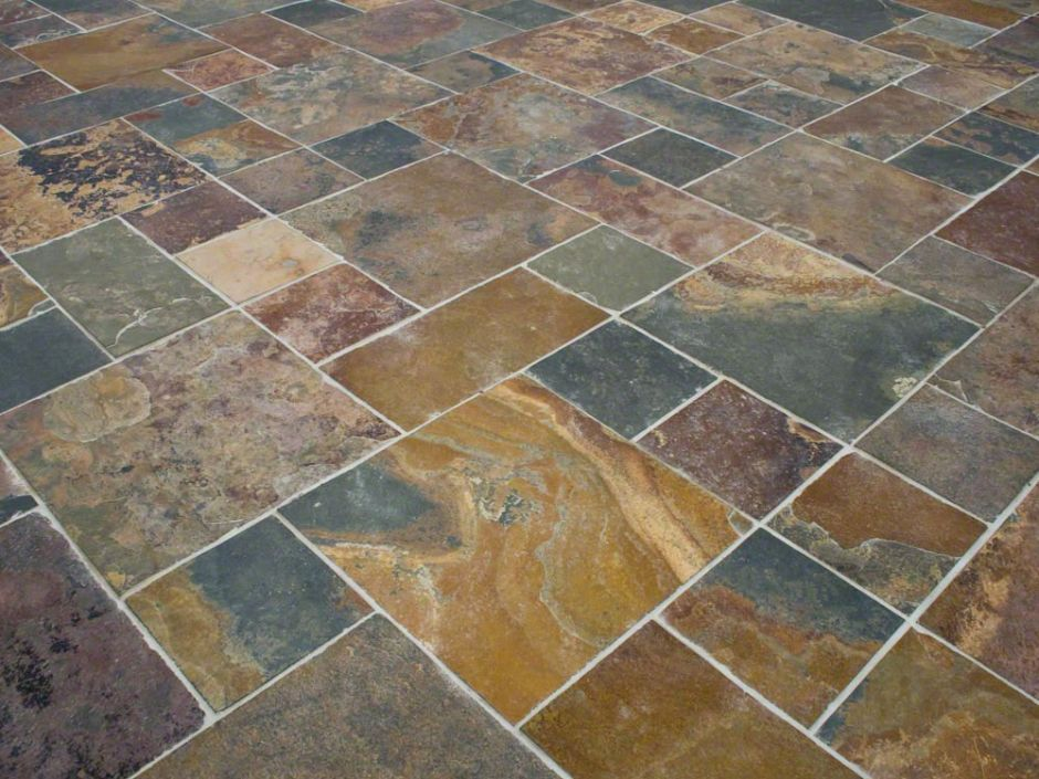 China multicolor slate the cleftstone works for Slate floor patterns